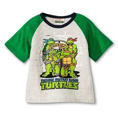 Teenage Mutant Ninja Turtles Infant Toddler Boys Raglan Tee - Light Gray