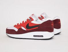 #Nike Air Max 1 GS Burgundy/Red #sneakers