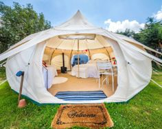 BACKORDER Sand Colored Vintage Style Bell Tent 16.5 by StoutTent