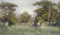 This important work was painted around 1910 after McCubbin had returned from his first overseas trip and was living in South Yarra. With it's sparkling texture and romantic colour it shows the influence of Turner whom McCubbin so admired. Australian Painting, Australian Artists, Australian Vintage, Nz Art, Vintage Artwork, Artist Painting, Impressionism, Creative Art, Flower Art