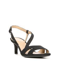 Naturalizer Women's Harmony Medium/Wide Dress Sandals (Black Fabric)