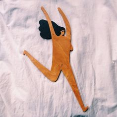 Classic Running Lady - Wooden Wall Hanging