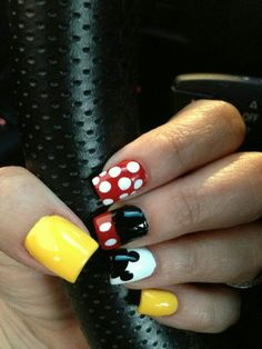 My version of Mickey Minnie Mouse Nails Mickey Nails Minnie Mouse Nails Easy Disney Nails Disney Nails Art Disney Halloween Nails Mickey Mouse Nail Design Diy Nails Disneyland Nails Pretty Nails Minnie Mouse Nails, Mickey Mouse Nails, Birthday Nail Designs, Birthday Nails, Birthday Design, Diy Nails, Cute Nails, Pretty Nails, Mickey Mouse Nail Design