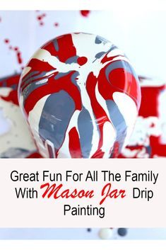 Drip Painting Mason Jars DIY, make exciting and fun Drip Painted Mason Jars in this awesome tutorial, kid friendly, holiday craft Pickle Jar Crafts, Pickle Jars, Mason Jar Crafts, Mason Jar Diy, Drip Painting, Painted Mason Jars, Holiday Crafts, Craft Supplies, Birthday Gifts