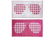 One Kings Lane - Beach Towels - S. Moss Reversible Sunglasses, Berry