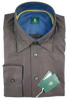 This Robert Talbott dress #shirt can go either way: casual with those barrel cuffs, dressy with that fine twill.     Get your own! http://www.frieschskys.com/all-shirts/dress-shirts #frieschskys #mensfashion #fashion #mensstyle #style #moda #menswear #dapper #stylish #MadeInItaly #Italy #couture #highfashion