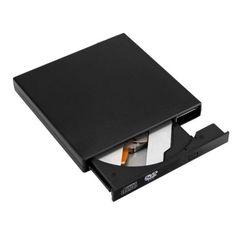 Usb External Dvd Reader Portable Cd Rw Burner Writer PLayer Driver Slim Black