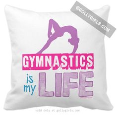 Golly Girls: Gymnastics is my Life Throw Pillow