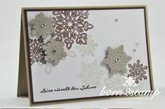 born2stamp STAMPIN' UP! Workshop Doris Wasserburg - Flockenzauber - Stanze Schneeflocken