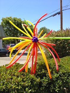 Flower Balloon Colorful  #balloon #sculpting #twist #colorful #flower #decor