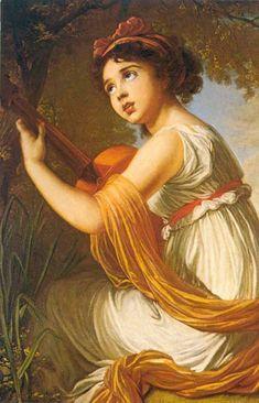 ♪ The Musical Arts ♪ music musician paintings - Elisabeth Louise Vigée-Le Brun
