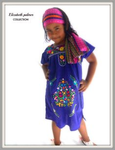 Isabely  Handmade Embroidered Mexican purple by elizabethpalmer, $45.00