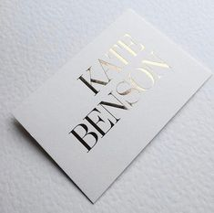 100 pcs Gold foil custom business cards