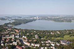 Munkkiniemi, Kuusisaari, Lehtisaari(Helsinki),  Laajalahti, Otaniemi(Espoo)