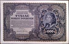 Poland banknote - Polska Krajowa - 1000 tysiac marek - year 1919 - free shipping