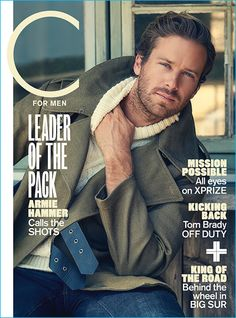 Armie Hammer covers the fall 2016 issue of C for Men magazine.