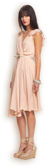 love this pink dress with white bow belt