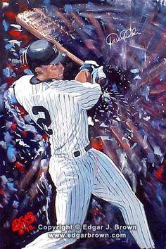 Sports Art Painting of Derek Jeter
