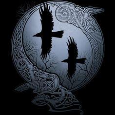Odin's Ravens, Huginn and Muninn