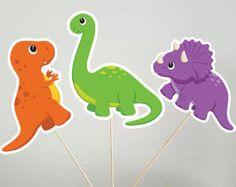 Dinosaurio cumpleaños centro de mesa por 4HeartsPaperCraftCo