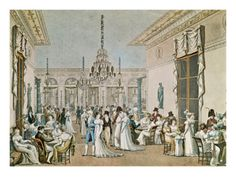THE CAFE FRASCATI IN 1807. Debucourt