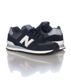 NEW BALANCE WOMENS 574 SNEAKER Black
