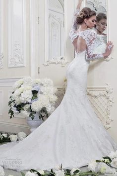 Lace back wedding dress... I just can't... this is too beautiful.