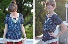 GroopDealz   Anthro-Inspired Polka Dot Peplum Top White Plum, Polka Dot Top, Peplum, Inspired, My Style, Clothes, Tops, Women, Fashion