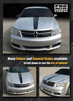 Dodge Avenger Hood Center Accent Stripe 2008 2009 2010 2011 2012 2013