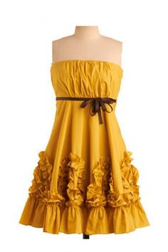 @Gabby Lorenzen I saw this yellow sun dress and think it would be PERFECT for Lindsey's wedding with cowgirl boots <3