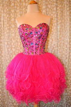 Pink Short Prom Cocktail Evening Wedding Pageant Gown Corset Dress L 10 12 | eBay