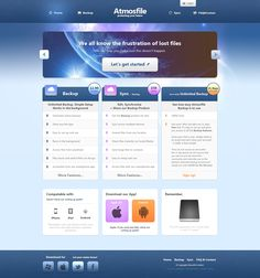 Atmosfile | Cloud Hosting by ~Dfiantt on deviantART #webdesign