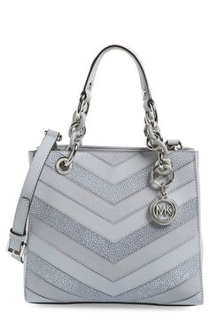 MICHAEL MICHAEL KORS 'Small Cynthia' Leather Satchel. #michaelmichaelkors #bags #shoulder bags #hand bags #leather #satchel #lining