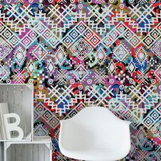 Boho διάθεση στη διακόσμηση με πολύχρωμες ταπετσαρίες τοίχου! #bohowallpaper #bohochic #walldecoration #πολύχρωμηταπετσαρία