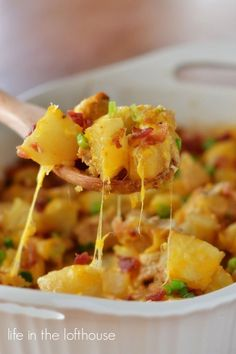 Loaded Chicken and Potato Casserole - Life In The Lofthouse