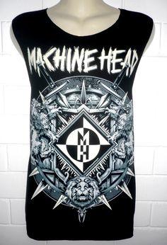 MACHINE HEAD Rock Band Music Metal T Shirt Tank par BestRockShirts, $12.90