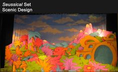 You'd need to find a serious artist to replicate this Seussical set, but it would be worth it!