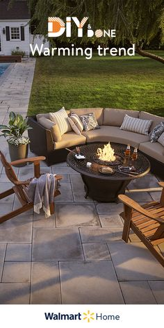 Get your patio ready for sun, fun, & parties—from weekend mornings to late nights—with the lowest prices of the season on decor, fire pits, & more. Small Backyard Design, Small Backyard Patio, Backyard Patio Designs, Backyard Ideas, Patio Ideas, Backyard Landscaping, Diy Patio, Patio Decorating Ideas On A Budget, Porch Decorating