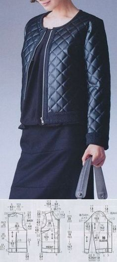 The hands (Creativity, Sewing, Patterns) we Sew a women's jacket // Taika Coat Patterns, Clothing Patterns, Dress Patterns, Sewing Patterns, Gilet Kimono, Sewing Blouses, Diy Fashion, Womens Fashion, Pattern Drafting