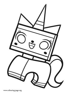 Come check out and have fun with this picture of Unikitty. She is a character from The Lego Movie. Enjoy this free coloring page!
