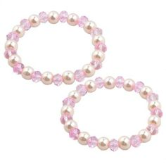 "Rosallini Ladies Clear Pink Plastic Crystal Beaded Elastic Bracelets Bangles Pair Rosallini. $3.63. Product Name : Bracelet;Fit for : Women. Bead Diameter : 0.8cm/0.3"";Color : Clear Pink, White. Material : Plastic;Flat Girth : 17cm/0.7"". Package : 2 x Bracelets. Weight : 29g"