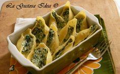 I conchiglioni con spinaci e ricotta sono tanto buoni quanto semplici da preparare.