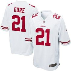 Nike Elite Youth San Francisco 49ers http://#21 Frank Gore White Color NFL Jersey$79.99