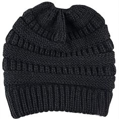 b8258e267219fd AUSID Women Beanie Ponytail Hat Bun Knitted Cap Skull Stretchy Winter Warm  0091 #fashion #clothing #shoes #accessories #womensaccessories #hats (ebay  link)