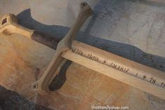 Anduril, LOTR-Inspired Wooden Sword of Aragorn