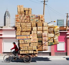Alain Delorme Totems Captures China's Bike Peddlers