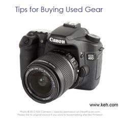 Tips for buying Used Photography Gear via @iHeartFaces