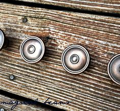 Rustic Oil Rubbed Drawer Pulls in Silver & Copper by MagicalBeansHome.com