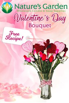 Free Valentine's Day Soap Bouquet Recipe by Natures Garden