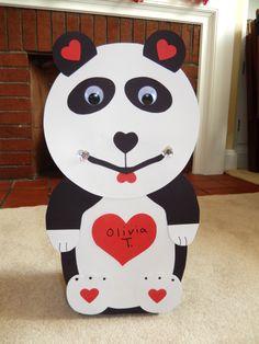 Außergewöhnlich Panda Bear Valentine Box